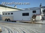 used 1999 Featherlite Gooseneck Horse Trailer with living quarters for sale - need to sell - has 4 horse mangers